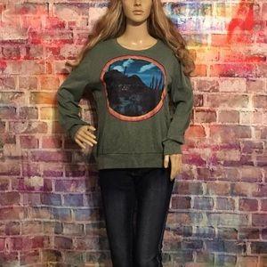 Sweaters - New long sleeve desert soho rainbow patch sweater.